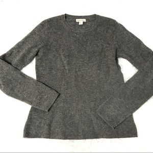 Adrienne Vittadini 2 ply cashmere gray sweater S